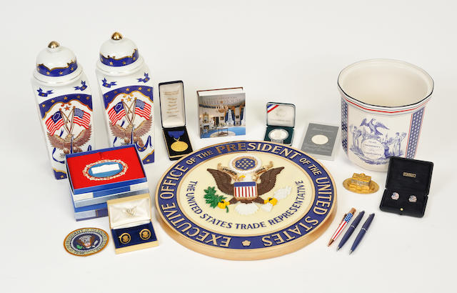 A large grouping of political and presidential memorabilia