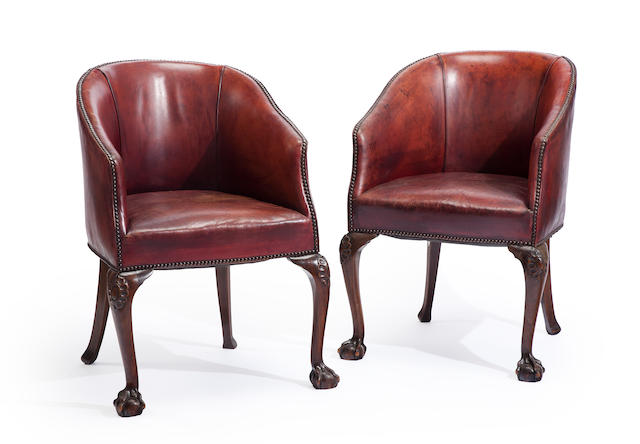 A group of Chippendale style carved fruitwood furniture second half 20th century
