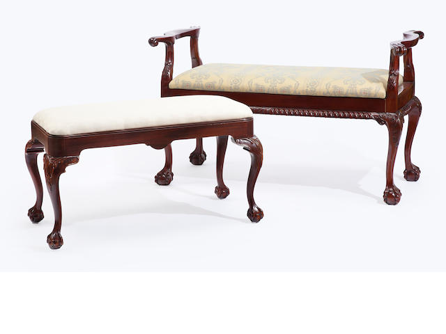 A group of Chippendale style carved fruit wood furniture<BR />second half 20th century