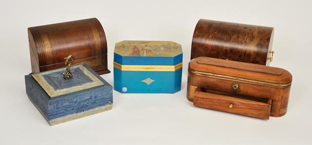 A group of assorted covered boxes<BR />20th century