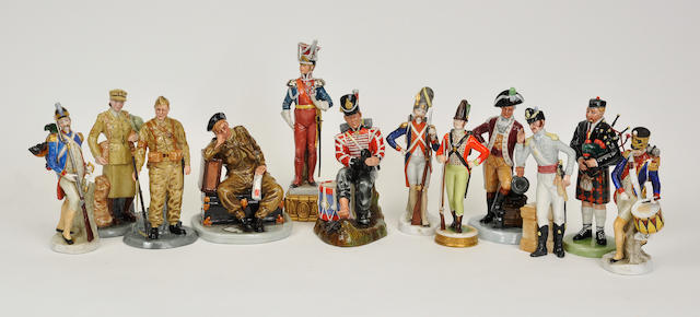 Five Royal Doulton glazed earthenware figures 20th century