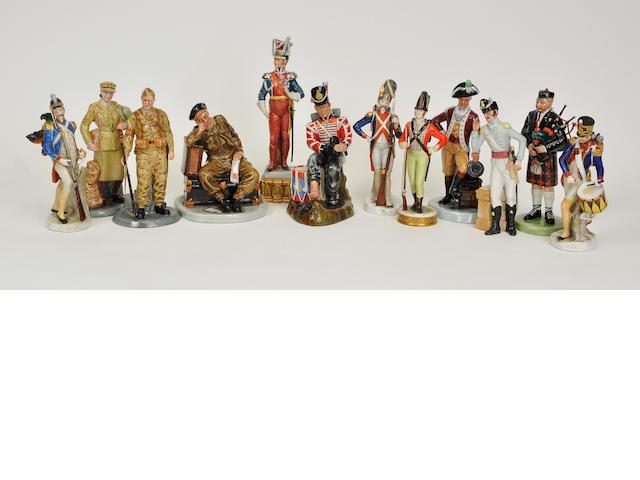 Five Royal Doulton glazed earthenware figures 20th century