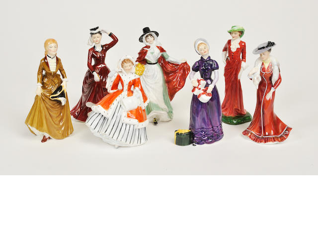 Thirteen Royal Doulton glazed earthenware  figures 20th century
