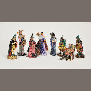 Eight Royal Doulton glazed earthenware figures