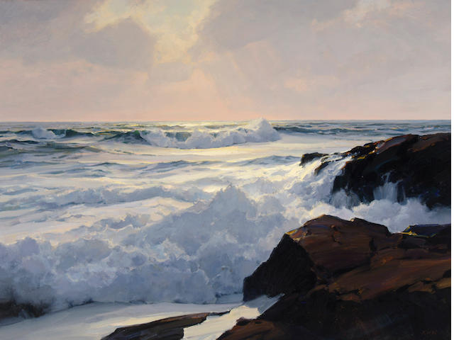 Michael B. Karas (American, born 1954) Great Seas 36 x 48 1/2in