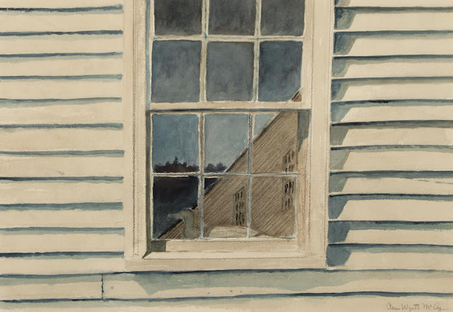 Ann Wyeth McCoy (American, 1915-2005) Reflection 13 1/2 x 19 1/2in (34.3 x 49.5cm)