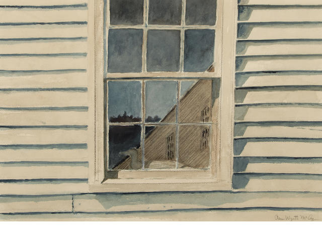Ann Wyeth McCoy (American, 1915-2005) Reflection 13 1/2 x 19 1/2in