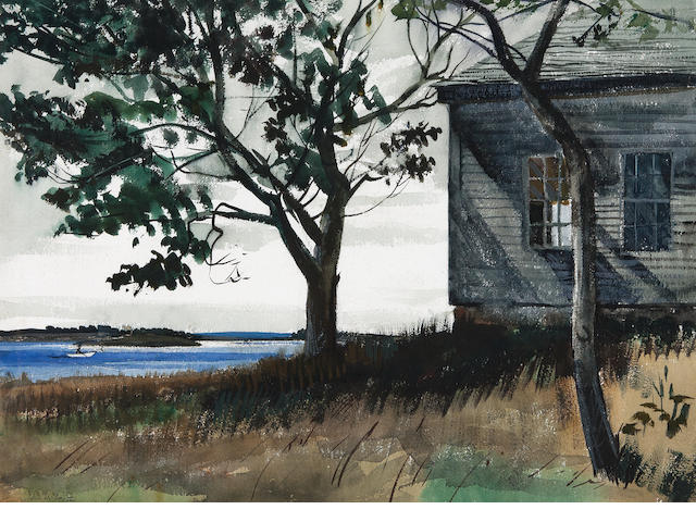 John W. McCoy (American, 1910-1989) Maine in Summer sight 21 1/4 x 29 1/4in