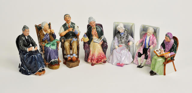 Seven Royal Doulton glazed earthenware figures