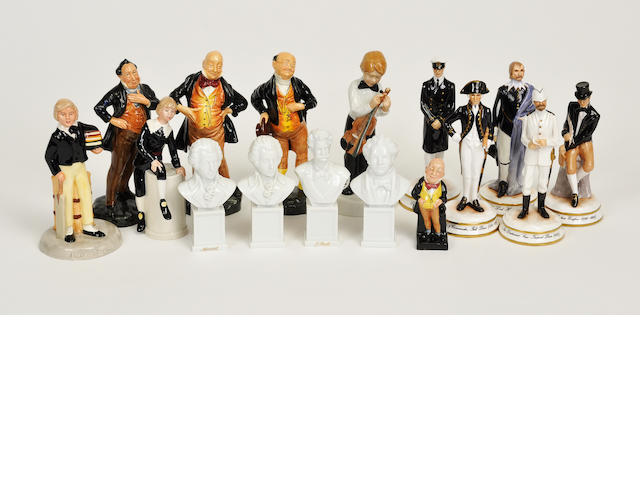 Seven Royal Doulton glazed earthenware figures