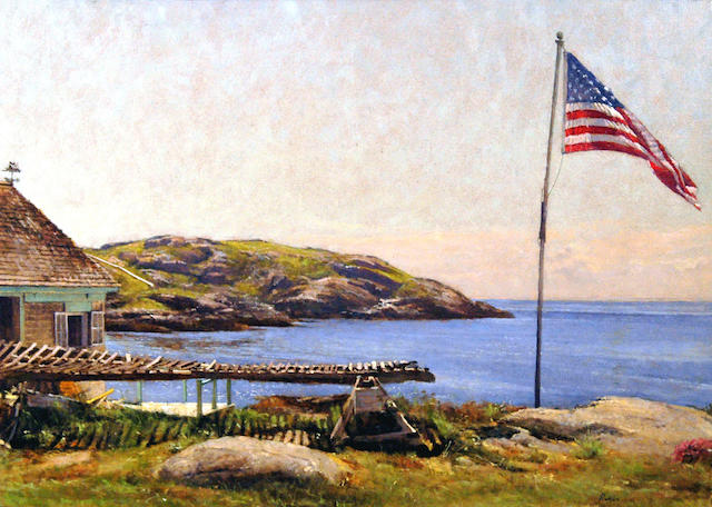 Peter Poskas (American, born 1939) The Flag, The Flake, Smutty Nose and The Manana 11 1/2 x 16 1/2in