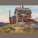 Don Stone (American, born 1929) Baldwin Cottage 10 x 14in
