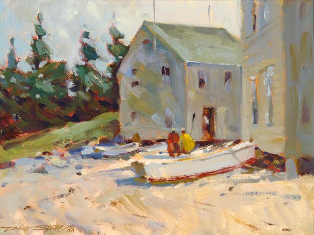 Don Stone (American, born 1929) Fish Beach 8 1/2 x 11 1/2in