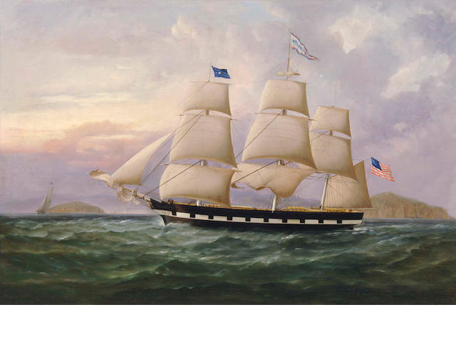 American School (19th Century) Ship William Jarvis 24 x 36in