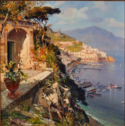Continental School, 20th Century Amalfi Coast 27 1/2 x 27 1/2in