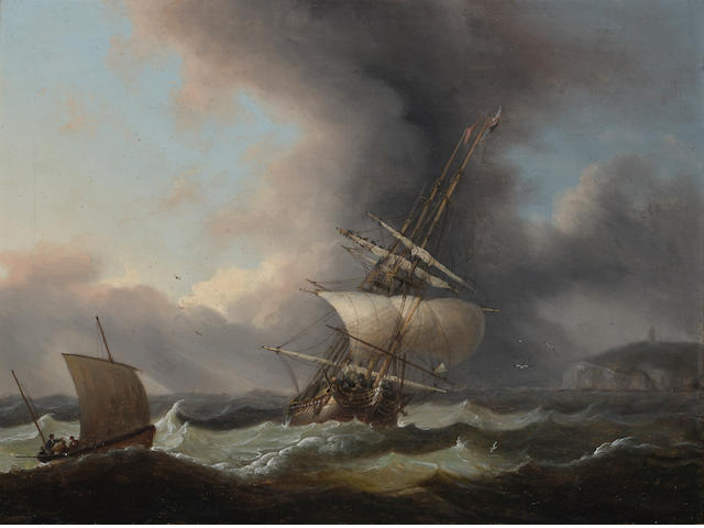 Thomas Luny, Shipping off the coast of Dover