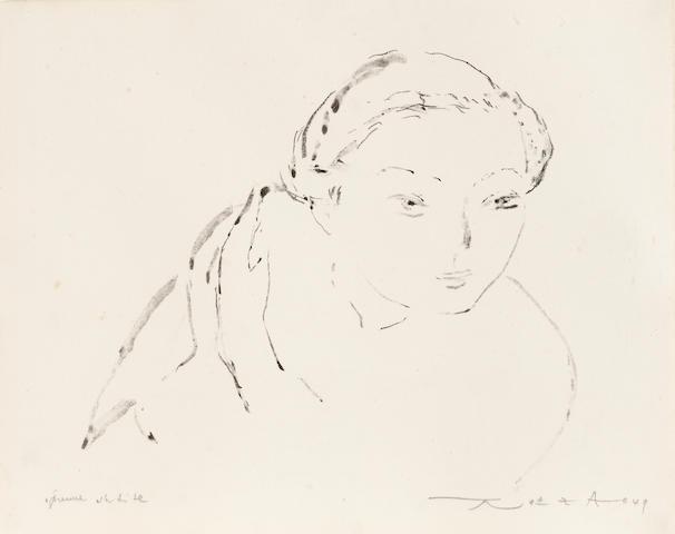 Zao Wou-Ki (born 1921);  * RESERVE TBD *  Esquisse de jeune fille;