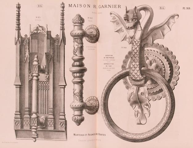 GARNIER, RÈMY. Maison R. Garnier. Brun-Cottan Fréres successeurs. Galerie d'echantillons ... cuiverie et serrurerie artistiques. Paris: n.d. [c.1874].<BR />