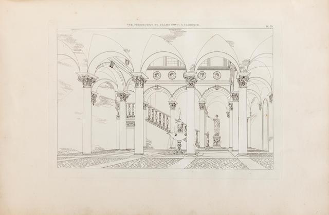 GRANDJEAN DE MONTIGNY, A. AND A. FIRMIN. Architecture toscane, ou palais, maisons, et autres édifices de la Toscane. Paris: P. Didot, 1815.