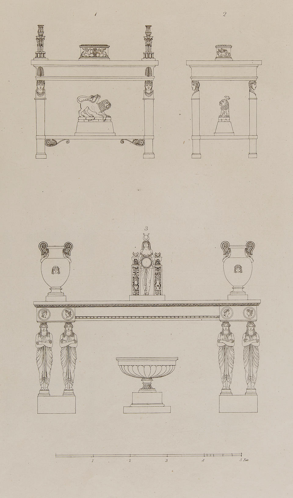 HOPE, THOMAS. 1770?-1831. Household Furniture and Interior Decoration. London: T. Bensley for Longman, 1807.