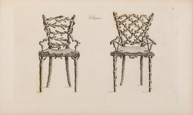 [WRIGHTE, WILLIAM.] Ideas for Rustic Furniture, proper for Garden Seats, Summer Houses, Hermitages, Cottages, &c. London: M. Taylor, 1835.