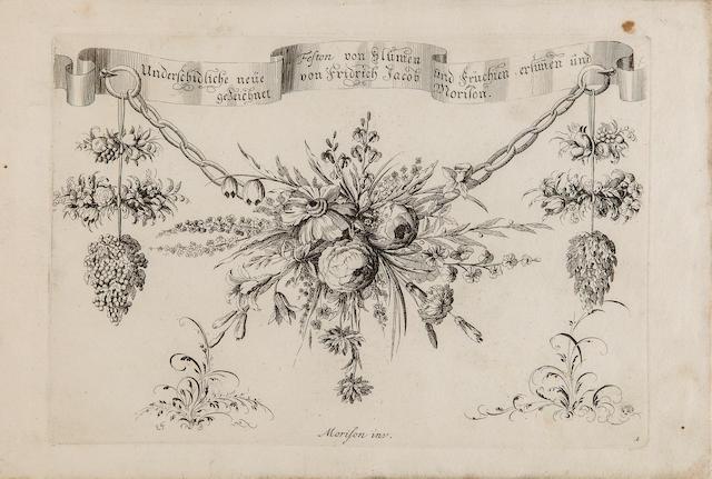 MORISON, FRIEDRICH JACOB. Unterschidliche neüe Feston von Blumen und Früchien. [Augsburg or Vienna: Jeremias Wolff, 1699.]