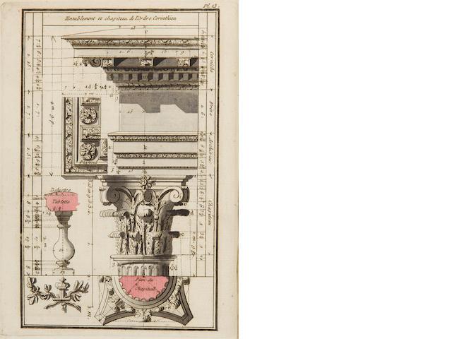 PANSERON, PIERRE. 1742-1803. Elémens d'architecture. Paris: for the Author, 1772-1773.