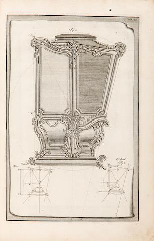 SCHUBLER, JOHANN JACOB. 1689-1741. Grondige en duydelyke Onderwyzing der volkomen Kolommen-ordening, zoo als men dezelve in de Heedendaagse-boukonst, gewoon is te gebruyken. Amsterdam: Petrus Schenk, 1728.