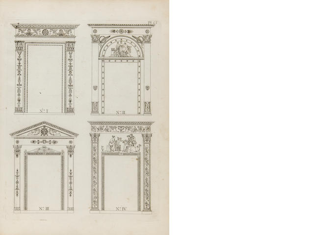BEUNAT, JOSEPH. Recueil des dessins d'ornements d'architecture. [Sarrebourg and Paris: the Author, 1816].