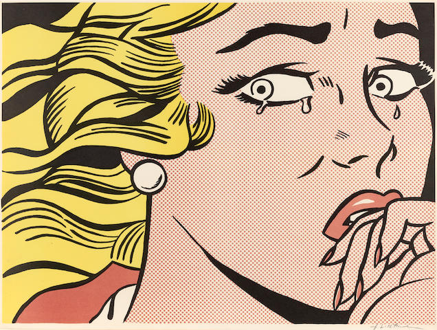 Roy Lichtenstein (1923-1997); Crying Girl;