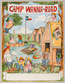 "MARSHALL, JAMES. 1942-1992. ""Camp Wanna Read,"" preliminary ink and watercolor study for a poster"