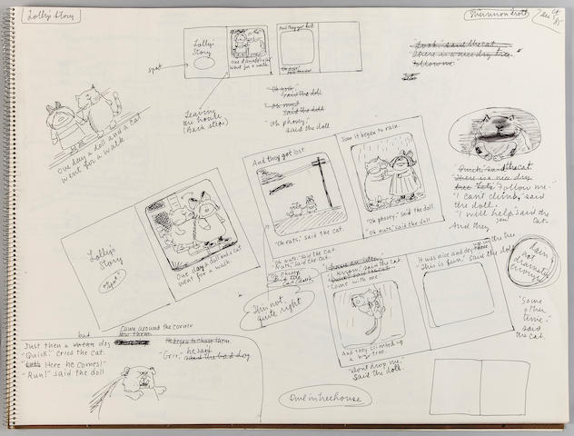 MARSHALL, JAMES. 1942-1992.  Sketchbook for Yummers Too: The Second Course, 1986,