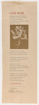 MOSER, BARRY. B.1940. Group of broadsides and other ephemera,