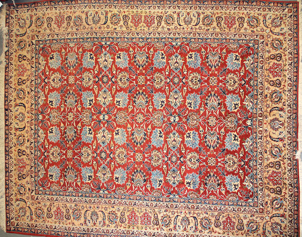 An Isphahan carpet  size approximately 10ft. 5in. x 13ft. 5in.