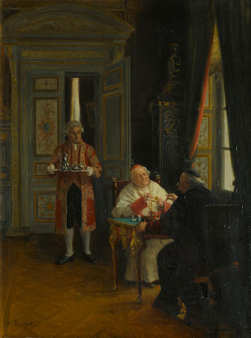 Henri Brispot (French, 1846-1928) The chess game 24 x 18 1/4in (61 x 46.3cm)