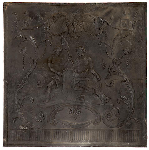 A Louis XV fireplace fireback <BR />mid 18th century