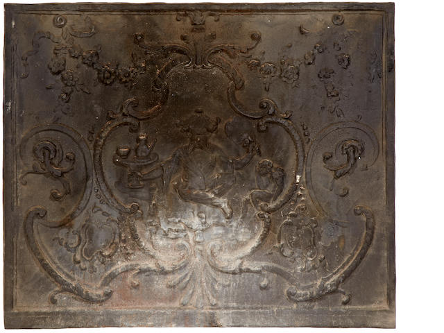 A Louis XVI fireplace fireback <BR />fourth quarter 18th century