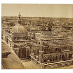 [BEATO, FELICE. 1832-1909.] Panorama of Lucknow taken from the Kaiserbagh,