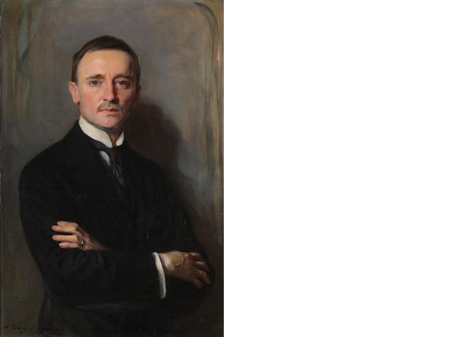 Philip de László (Hungarian, 1869-1937) A portrait of William Richards Castle Jr. 36 x 24 1/2in (91.4 x 62.3cm)