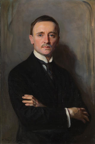 Philip de László (Hungarian, 1869-1937) A portrait of William Richards Castle Jr. 36 x 24 1/2in (91.4 x 62.3cm)