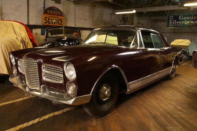 Originally owned by the French Ambassador to the US, one of the last EX1s produced with many styling elements from the rare EX2, in the care of the current owner for nearly 40 years,1960 Facel Vega Excellence Sedan  Chassis no. B068