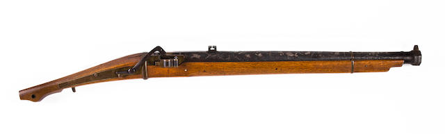 A matchlock with silver inlays, signed Umetada Matchlock