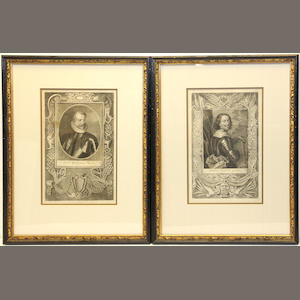 Six German portrait engravings of historical figures