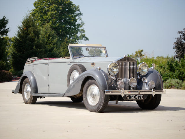 Originally owned by the Honorable Peter Beatty, son-in-law of Marshall Field,1937 Rolls-Royce Phantom III Cabriolet  Chassis no. 3 DL 118 Engine no. Z28E