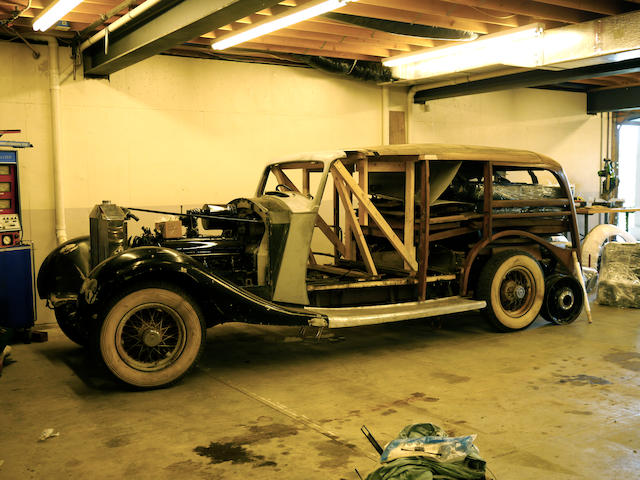 Originally supplied to Lord Somers, President of the Marylebone Cricket Club, formerly owned by William B. Ruger,1937 Rolls-Royce Phantom III Shooting Brake project  Chassis no. 3 BU 144 Engine no. Z58C