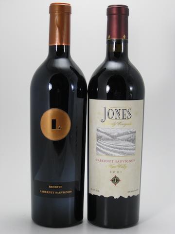 Jones Family Cabernet Sauvignon 2001 (4)  Lewis Cellars Reserve Cabernet Sauvignon 1999 (6)