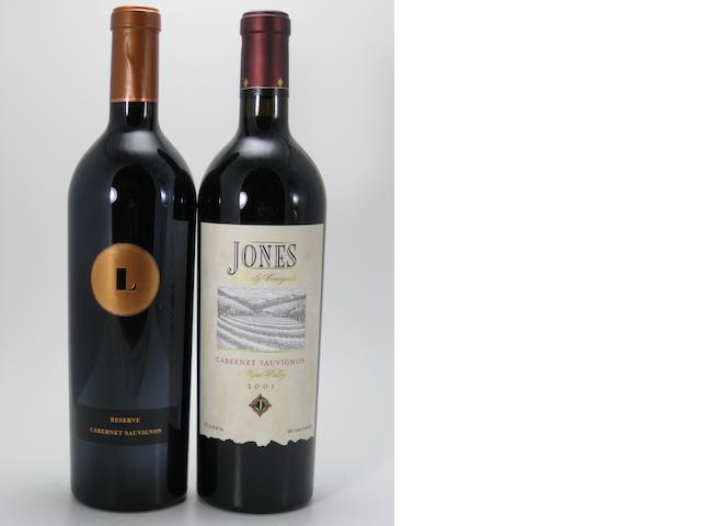 Jones Family Cabernet Sauvignon 2001 (4)<BR />Lewis Cellars Reserve Cabernet Sauvignon 1999 (6)