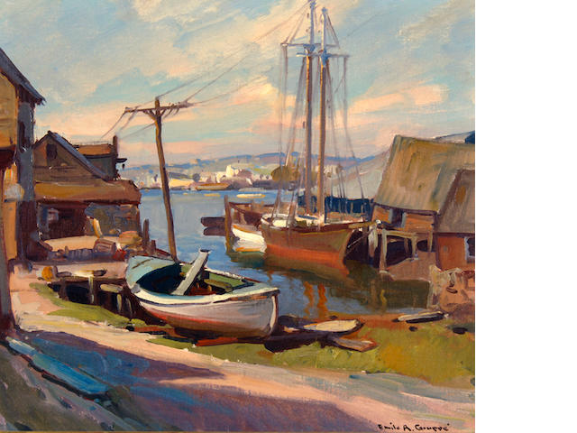 Emile Gruppe (American, 1896-1978) Harbor 18 x 20in