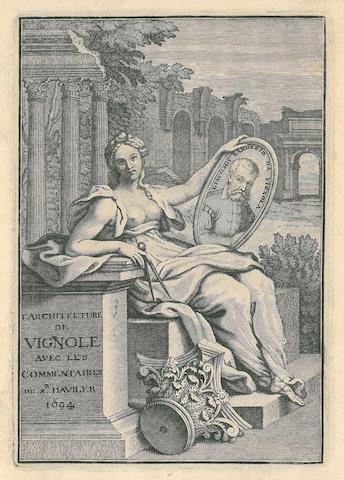 AVILER, AUGUSTIN CHARLES D'. 1653-1701. Cours d'architecture qui comprend les ordres de Vignole. Paris: Nicolas Langlois, 1696-1698.