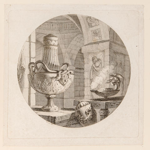 VASES. Album containing 106 engraved, stipple-engraved and etched plates of vases. [France: 18th century.]